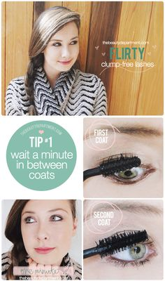 Is the way you're applying mascara making it clump? We blame the formulas or the wands, but sometimes, it's us! We just posted our three rules to prevent clumps... check out thebeautydepartment.com to see the other two and depart Clumpville for good!