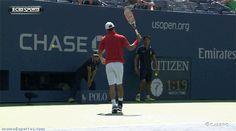 GIF: Kei Nishikori es un Dios del tenis