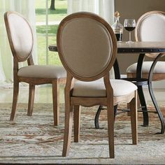 Riverside Sherborne Oval Back Upholstered Side Dining Chairs - Set of 2 - RVS2937, Durable