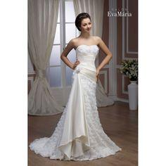 Svadobné šaty s kvetmi Esla