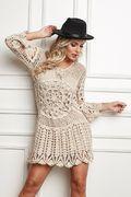 Receitas Círculo - Vestido de Crochê - Revista Manequim