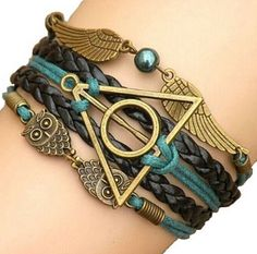 Hermoso Harry Potter reliquias de la muerte pulsera!