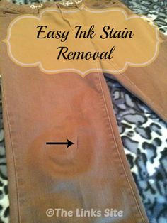 This is such a handy tip for when you get a pen mark or ink stain on your clothes! thelinkssite.com