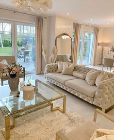 Decor Home Living Room, Living Room Designs, Luxury Dining Tables, Home Room Design, Beautiful Living Rooms, House Rooms, Home Decor Styles, Interior Design, Decoration
