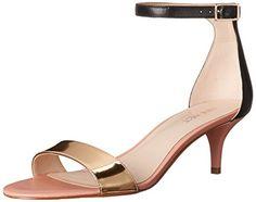 Nine West Women's Leisa Leather dress Sandal, Black/Gold, 5 M US - http://all-shoes-online.com/nine-west/5-b-m-us-nine-west-womens-leisa-leather-dress-sandal-2