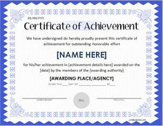 Pin by alizbath adam on certificates pinterest certificate and certificate of achievement template certificate of achievement office templates free printable certificates of achievement formal award certificate yadclub Images