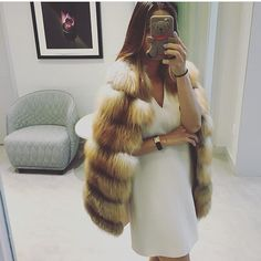 Real fox fur vest: http://aria-moda.com/product/hailey/