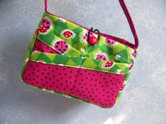 Child's Ladybug Purse-easy sewing pdf pattern and Tutorial with Download e-file by AdoriesDesigns, $4.50 USD