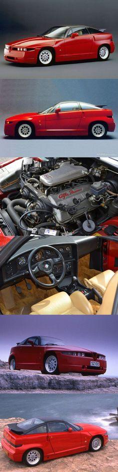1989 Alfa Romeo SZ / Italy / red / Opron Zagato / ES-30 / Busso V6 / 16-70 #alfaromeozagato