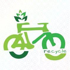 Uso de la bicicleta como elemento sustentable no contaminante -  Color verde representando la naturaleza -Lineas orgánicas -tipografía no rígida -Integración de  plantas -Segmentación de la bicicleta por la palabra