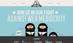 25 Beautiful Portfolio Website Designs - my fave is the fun ninja design.