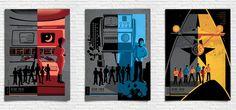 The Original Star Trek Series FULL SET x7 Posters by bensmind