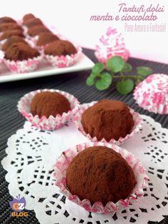 Tartufi dolci di cioccolato alla menta   Pane Amore e Fantasia!