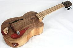 Vintage Jazz Box Guitar Style Acoustic Electric Tenor Ukulele. $169.99, 3music #instruments #ukulele http://www.pinterest.com/TheHitman14/music-instruments/