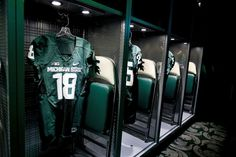 The two centerpiece rooms of the addition are the new home locker room and the recruiting lounge. Msu Football, Michigan State Football, Michigan State University, East Lansing, Go Green, August 25, Red Cedar, Tailgating, 4 Life