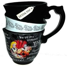 Disney World Parks Alice Mad Hatter Triple Stacked Tea Cup Coffee Mug $27.95