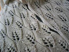 Lace Leaf Scarf. The leaves.