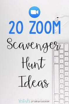 20 Zoom Scavenger Hunt Ideas for Teachers provides examples of math, ELA, and SEL virtual scavenger hunts to use with any video conferencing software.  #vestals21stcenturyclassroom #virtualscavengerhunts #virtualscavengerhuntsideas #zoomscavengerhunts #virtuallearning