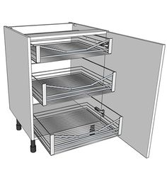 A Pull Out Wire Basket Storage Unit. Http://www.diy