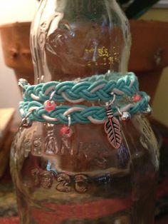 Braided Summer Teal Double Wrap Bracelet by RoxieJaneJewelry, $18.00