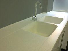 Molded In Sinks Corian Sink Countertops Draining Board Kitchen Worktop