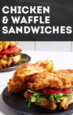 Chicken & Waffle Sandwiches