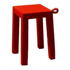 18 in. Handle Stool in Red