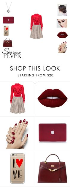 """Little Red"" by queentori916 ❤ liked on Polyvore featuring Lattori, Lime Crime, Casetify, Hermès and Pandora"