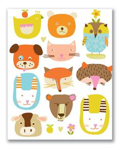 GREETING CARDS & INVITATIONS :: NOTE CARDS :: blank :: Animals note cards - Ecojot - eco savvy paper products