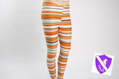 Striped Leggings,Funky Leggings,Rave Pants,Printed Leggings,Retro Print,Hipster Clothes,Festival Clothing,EDM Outfit,Electric Forest,EDC