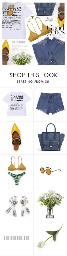 """""""weekend with friends"""" by jiabao-krohn ❤ liked on Polyvore featuring Malone Souliers, Henri Bendel, Eddie Borgo, Maison Margiela, Crate and Barrel and coffeebreak"""