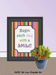 Begin each day with a SMILE! #bathroom #kids
