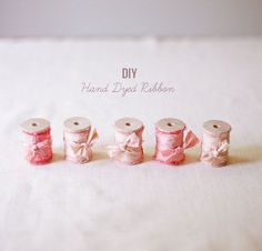 DIY hand dyed ribbon