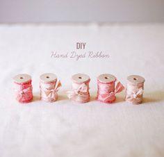 DIY: Hand Dyed Ribbon
