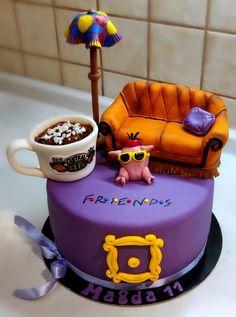 Friends by Majka Maruška Friends Birthday Cake, Friends Cake, Pretty Birthday Cakes, Friends Tv, 23 Birthday Cake, Brithday Cake, Friends Merchandise, Chandler Bing, Crazy Cakes