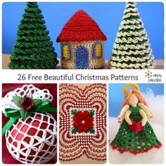 26 Free Beautiful Christmas Decor and Ornament #crochet patterns