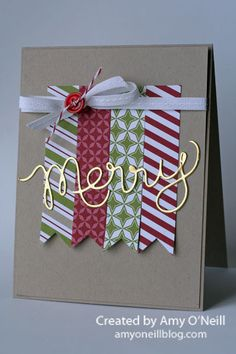 This would be a great card for using up scraps of DSP.  Stampin' Up!