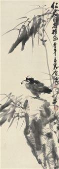 Bird and rock By Gao Jindou, Zhang Lichen