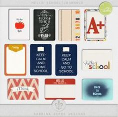 Hello School Journal Cards