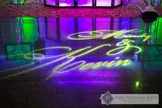 Mindy & Kevin #weddingdj #weddingentertainment #weddings #uplighting #pureplatinumparty #photobooths #WeddingEntertainment  #monogram #gobolight
