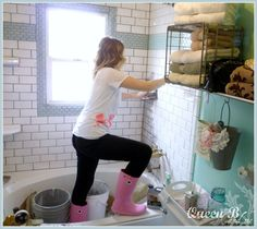 Subway Tile DIY #Subway #tile #DIY  Complete subway tile tutorial! Don't be afraid to DIY!! By Queen B and Me