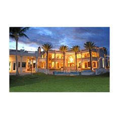 Vero Beach Mega Mansion ❤ liked on Polyvore featuring places