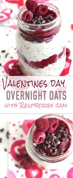 Delicious Valentines Day Overnight Oats! Show how much you care about your fella/woman