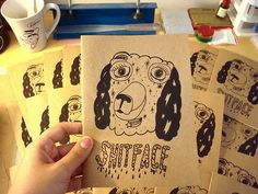 SHITFACE zine by Pacolli / High in the Bay