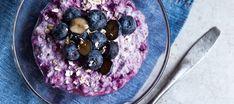 Helppo mustikkatuorepuuro   Jälkiruoat   Reseptit – K-Ruoka Cook At Home, Acai Bowl, Nom Nom, Oatmeal, Cooking, Breakfast, Health, Recipes, Food Food