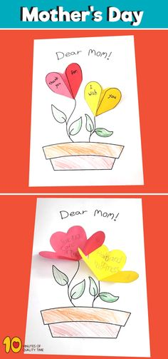 Mother's Day Flower Blessings – Paper Craft