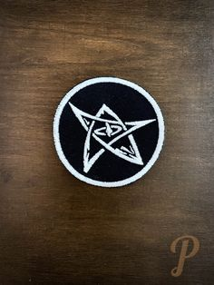 Name inspired patch // ornament, cosplay prop. Battle Jacket, Different Colors, Badge, Adhesive, Patches, Glow, Blue And White, Colours, Ornaments