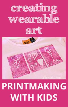 A fantastic step-by-step tutorial for Printmaking - Creating wearable art with kids