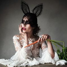 How to lose 5 pounds with a 9 day plant-based diet: Philip Treacy, Plant Based Diet Plan, Helmut Newton, Madonna, Victor Demarchelier, Elle Mexico, Harpers Bazaar, Happy Easter, Easter Bunny