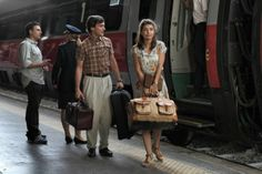 See!  Love this beautiful woman and her flowing floral dress :-)  Still of Alessandro Tiberi and Alessandra Mastronardi in To Rome with Love #FlowerShop